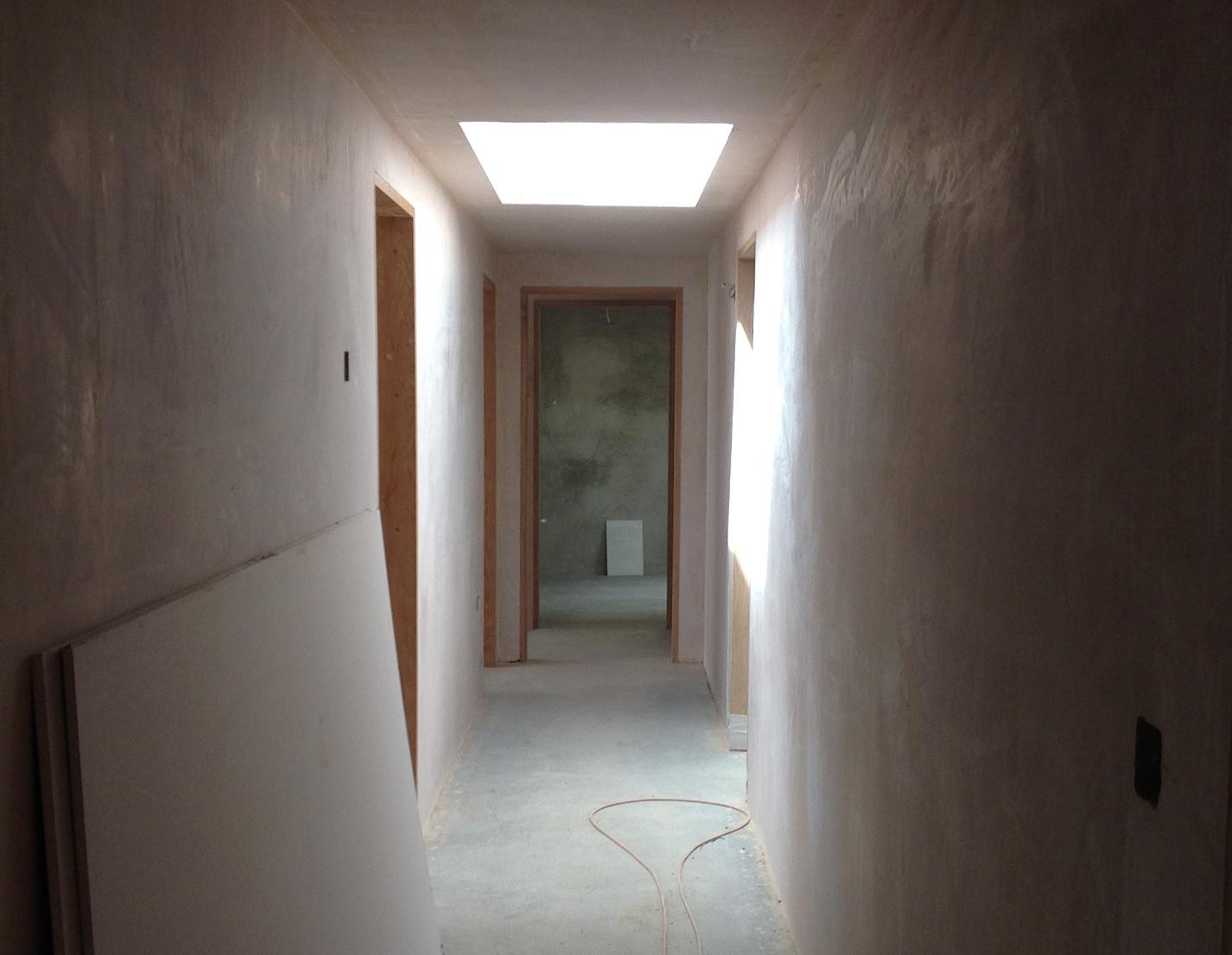 Ian Pearce Plastering corridor plastered